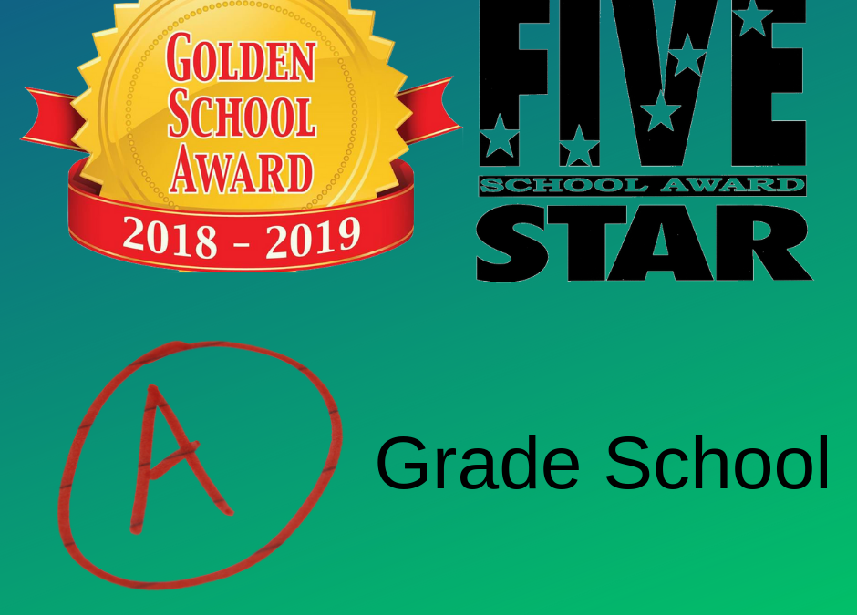 A Grade, Gold School Award and 5 Star School!